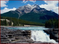 Водопад в горах